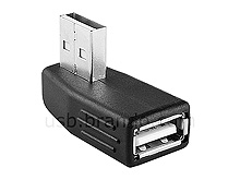 USB 2.0 A Female to USB 2.0 A Male Adapter (90°)