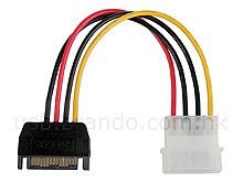 SATA Male to IDE Male Power Cable