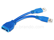 USB 3.0 20-Pin Header Female to USB 3.0 Type-A Male Short Cable