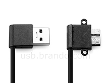USB 3.0 A Male (Right 90°) to USB 3.0 micro B Male (Angled) Short Cable