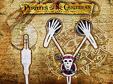 Disney Pirates of The Caribbean Earphone - Skeleton