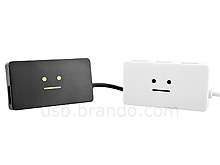 USB Smiling Face 4-Port Hub