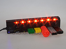 USB 7-Port Hub Bar with On/Off Switches