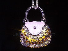 USB Jewel Handbag Necklace Flash Drive V