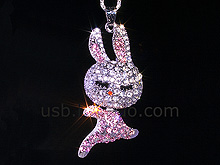 USB Jewel Rabbit Necklace Flash Drive II