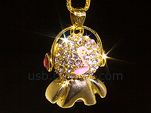 USB Jewel Musical Man Necklace Flash Drive