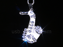 USB Jewel Saxophone Necklace Flash Drive