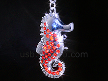 USB Jewel Sea Horse Keychain Flash Drive