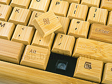 USB Full Bamboo Keyboard with Mouse