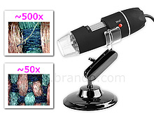 USB Digital Microscope with 8 LEDs (500X)