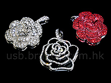 USB Jewel Rose Necklace Flash Drive