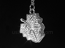 USB Jewel Leaf Necklace Flash Drive