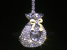 USB Jewel Lucky Bag Necklace Flash Drive
