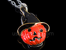 USB Pumpkin Necklace Flash Drive