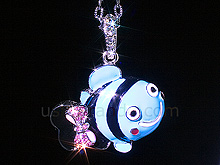USB Jewel Smiley Fish Necklace Flash Drive