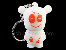 USB Smiley Bear Keychain Flash Drive