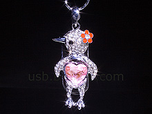 USB Jewel Bird Necklace Flash Drive