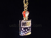 USB Jewel Perfume Bottle Necklace Flash Drive