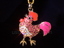 USB Jewel Rooster Necklace Flash Drive