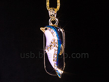 USB Jewel Dolphin Necklace Flash Drive