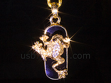 USB Jewel Frog Necklace Flash Drive
