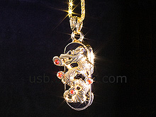 USB Jewel Dragon Necklace Flash Drive