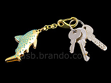 USB Jewel Shark Keychain Flash Drive