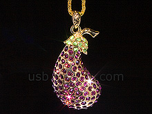 USB Jewel Eggplant Flash Drive