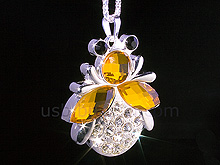 USB Jewel Bee Necklace Flash Drive II