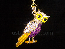 USB Jewel Owl Keychain Flash Drive