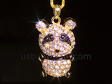 USB Jewel Panda Necklace Flash Drive II