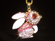 USB Jewel Rabbit Necklace Flash Drive