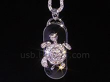 USB Jewel Tortoise Necklace Flash Drive