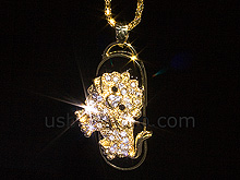 USB Jewel Lion Necklace Flash Drive