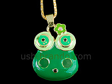 USB Frog Necklace Flash Drive