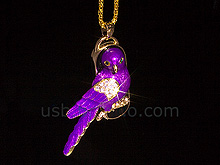 USB Jewel Purple Bird Necklace Flash Drive