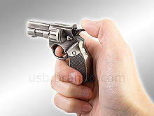 USB Metallic Police Revolver Gun Flash Drive
