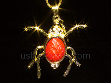 USB Jewel Insect Necklace Flash Drive