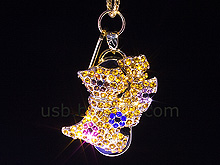 USB Jewel Twins Doggie Necklace Flash Drive