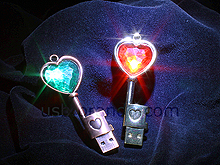 USB Jewel Heart Key Flash Drive