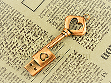 USB Heart Key Flash Drive