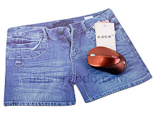 Blue Jeans Shorts Mouse Pad