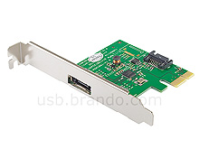 SATA 3 + eSATA  3 (6Gb/s)  PCI Express Card