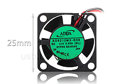 ADDA 2510 25mm Silent Cooling Fan