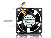 SUNON 4020 40mm Silent Cooling Fan