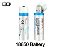 USB 18650 Rechargeable Battery