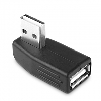 Reversible USB 2.0 A Male to USB 2.0 A Female Adapter (90°)