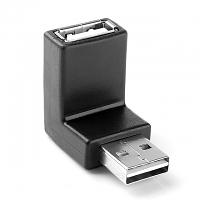 Reversible USB 2.0 A Male to USB 2.0 A Female Adapter (Right 90°)