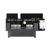 SATA 22-Pin Male to Slim SATA 13-pin Adapter with Auxiliary Power Supply