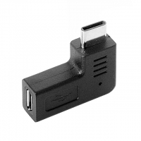 Type-C Male to microUSB Female Adapter (Horizontal 90°)